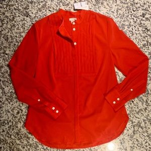 NWT Red JCrew Blouse